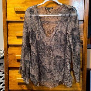 Winter Kate Sheer Shirt Floral